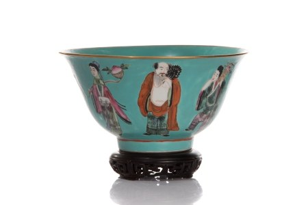 CHINESE EIGHT IMMORTALS PORCELAIN BOWL