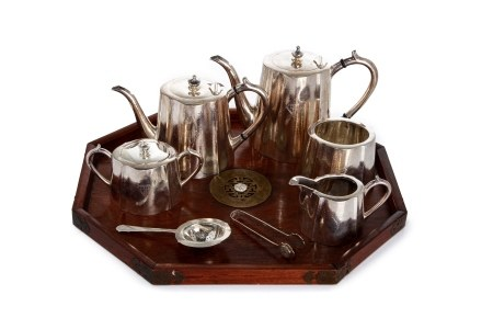 CHINESE EXPORT SILVER TEASET, 2,203g