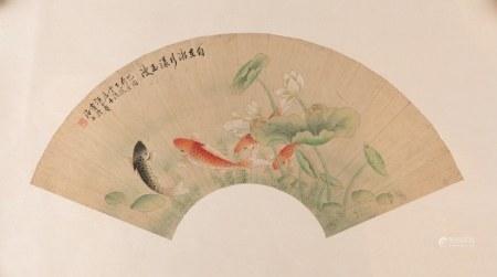 WANG YACHEN (1894-1983), FISHES IN LOTUS POUND