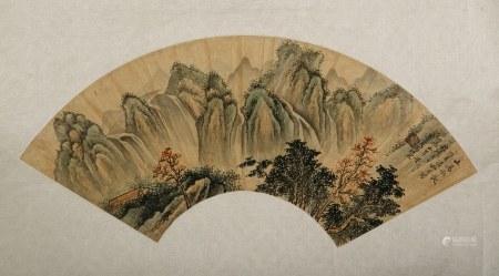 FENG CHAORAN (1882-1954), LANDSCAPE FAN PAINTING
