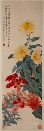ATTRIBUTED TAO LENGYUE (1895-1985) ROCK & FLOWERS