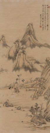 TANG YIFEN (1778-1853), FRAMED LANDSCAPE PAINTING