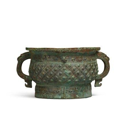 An archaic bronze ritual food vessel (Gui), Early Western Zhou dynasty | 西周初 旅簋