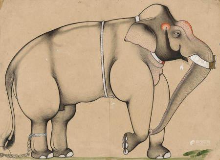 A ROYAL ELEPHANT ISARDA OR SAWAR, CIRCA 1700-20