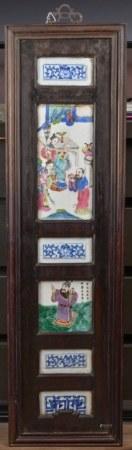 19世紀 瓷板掛屏