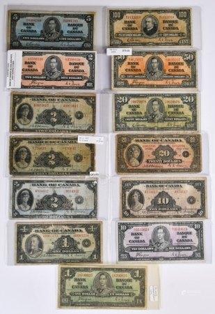 加拿大銀行 1935-1937紙幣