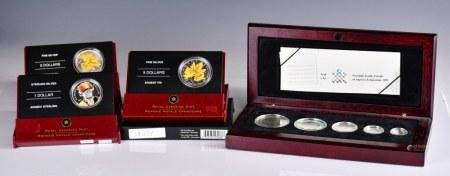 三枚加拿大彩幣和2003銀幣