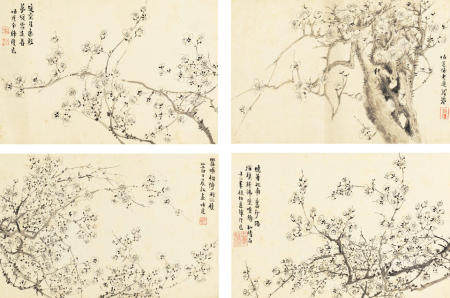 Zhao Tong (19th century) Plum Blossoms, 1891