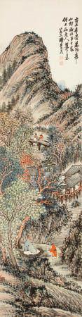 Chen Chongguang (1839-1896)  Landscape after Huang Gongwang