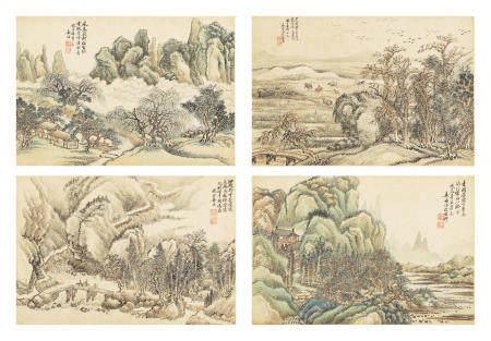 Jiang Yun  (1847-1918/1919)   Landscapes After Old Masters, 1908