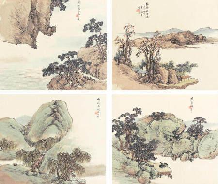 Tao Tao (active 1825-1900)  Landscapes, 1882