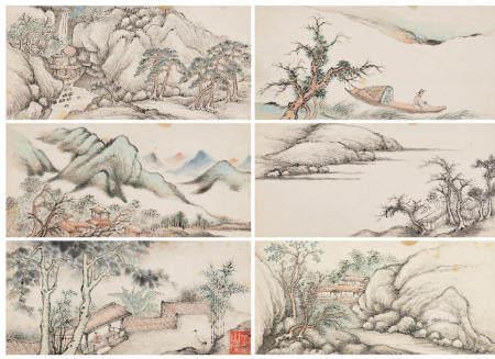 Wu Dacheng (1835-1902) Landscapes, 1895 (12)