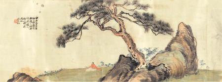 Weng Shouqi (active 1891-1921) and Wang Tongyu (1856-1941) A Collaborative Landscape, 1894