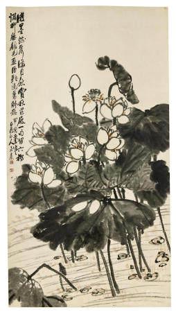 Wang Zhen (1867-1938)   Lotus Wilting in Autumn, 1914