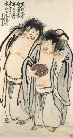 Wang Zhen (1867-1938) Two Immortals, 1926