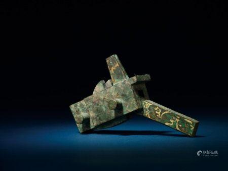 戰國 銅錯金弩機