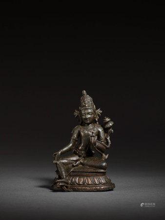11-12世紀 帕拉銅蓮花手觀音