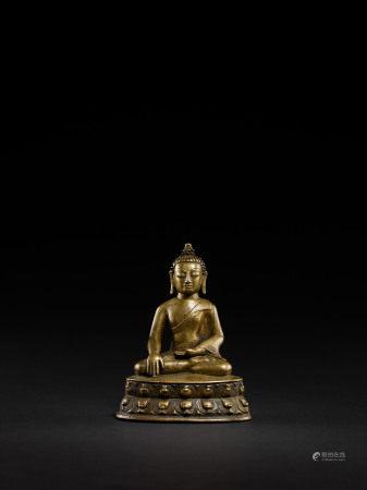 明 西藏合金銅佛坐像