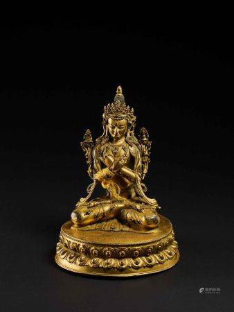 明-清 銅鎏金文殊菩薩