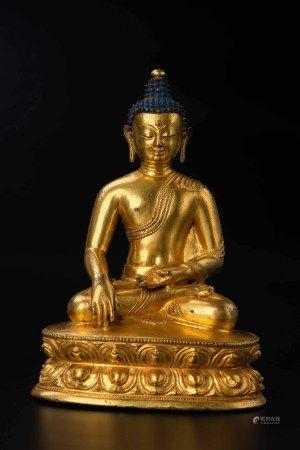 14世紀 銅鎏金釋迦牟尼