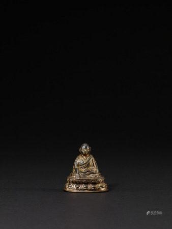 15世紀 銅鎏金祖師像