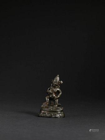 元 銅黑財神像