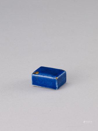 18 世紀 李朝藍釉水滴