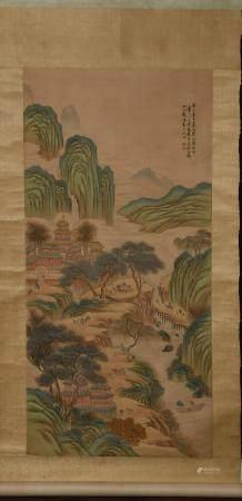 CHINESE LANDSCAPE PAINTING BY PENG YANG 彭阳 山水立轴