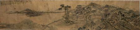 CHINESE LANDSCAPE HANDSCROLL BY TANG YIFEN 汤贻汾 山水人物手卷