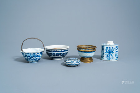 A varied collection of Chinese blue and white porcelain, Kangxi and later