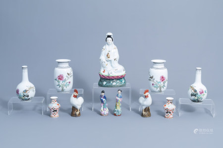 An extensive and varied collection Chinese famille rose porcelain, 20th C.
