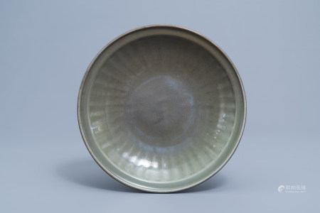 A Chinese Longquan celadon charger, Ming