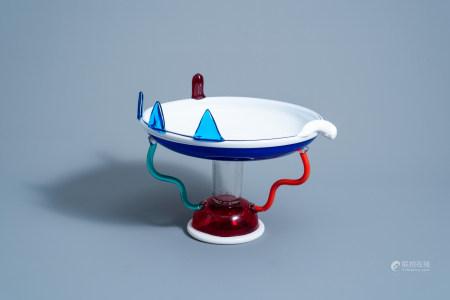 Ettore Sottsass (1917-2007): 'Sol' Murano glass fruit bowl for Memphis Milano by Toso Vetri d'Arte, [1982]