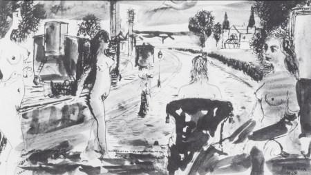 Paul Delvaux (1897-1994): Untitled, print, (1964)