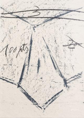 Antoni Tapies (1923-2012): 'Llambrac 12', serigraph, (1975)