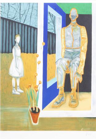 Hans Vandekerckhove (1957): 'Ik wil een tuinwereld scheppen', lithograph in colours, ed. 491/500, (1999)