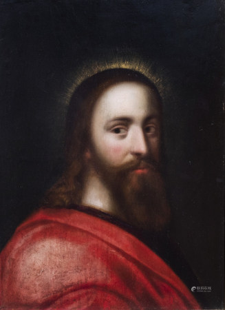 French school: Jesus Christ, oil on panel, 17th C.