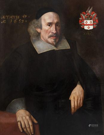 Dutch school: Portrait of a gentleman, oil on canvas, dated 1653