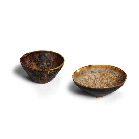 Two Jizhou conical bowls SongJin dynasties, 11th12th century (2)
