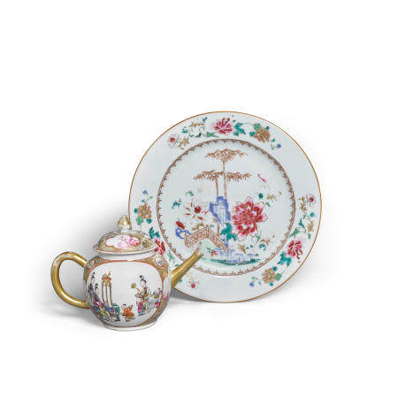 Two famille rose enameled porcelains 18th19th century (2)