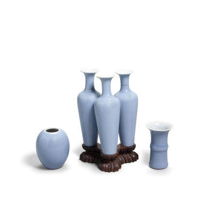 A group of three clair-de-lune porcelains Late 19thearly 20th century (3)