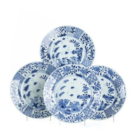 Set of four porcelain plates from China, Yongzheng