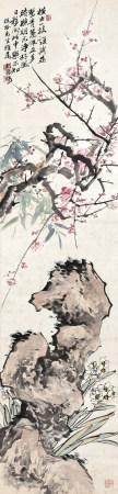 清 胡鐵梅 三君圖