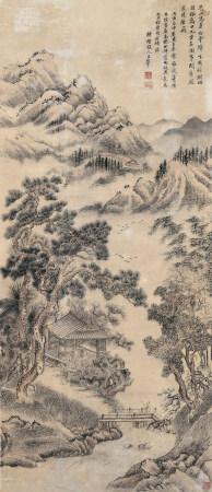 王翬款 山水圖