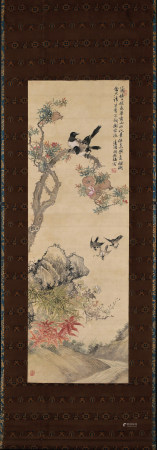 清 胡鐵梅 花鳥圖