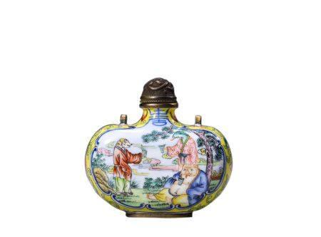 Qing Dynasty Enamel Snuff Bottle