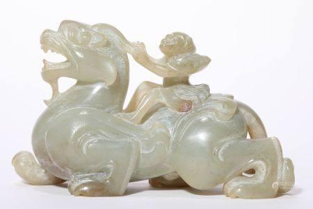 Jade Mythical Beast Ornaments