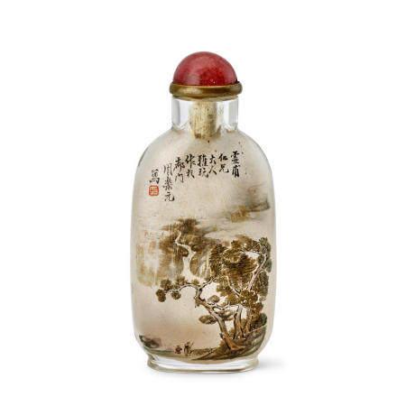 AN INSIDE-PAINTED GLASS SNUFF BOTTLE  Zhou Leyuan Signed, circa 1890
