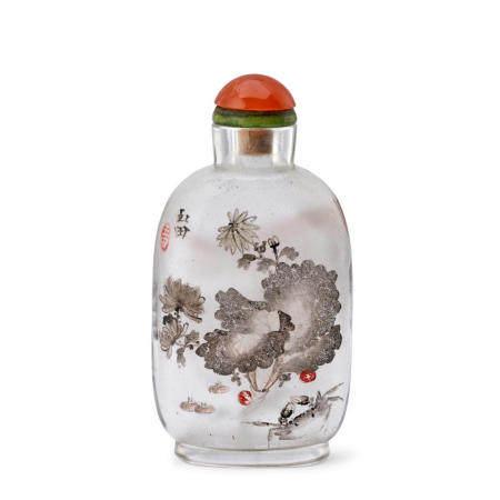 AN INSIDE-PAINTED GLASS SNUFF BOTTLE Yan Yutian Signed, circa 1895-1900