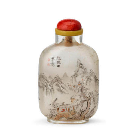 AN INSIDE-PAINTED GLASS SNUFF BOTTLE Kui Detian Signed, 1905-1915